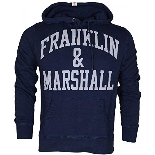 Franklin & Marshall FLMVA089XMW16, Felpa Uomo, Blu (Navy), Medium