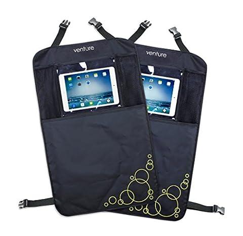ActiVue Touch Organizer-Taschen, 2 Stück, mit iPad-/Tablet-Halterung, Displayschutzfolie, KFZ-Sitzbezüge