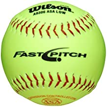 Wilson A9306 ASA Series Softball (12-Pack), 11-Inch, Optic Yellow (Renewed)