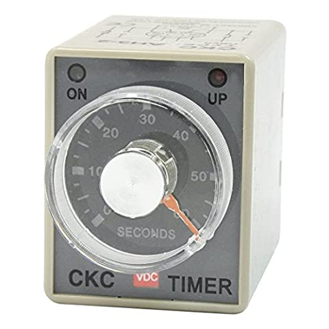 DPDT 8P DIN Rail 0-60 Seconds IC Timer Time Timing Relay DC 24V AH3-2