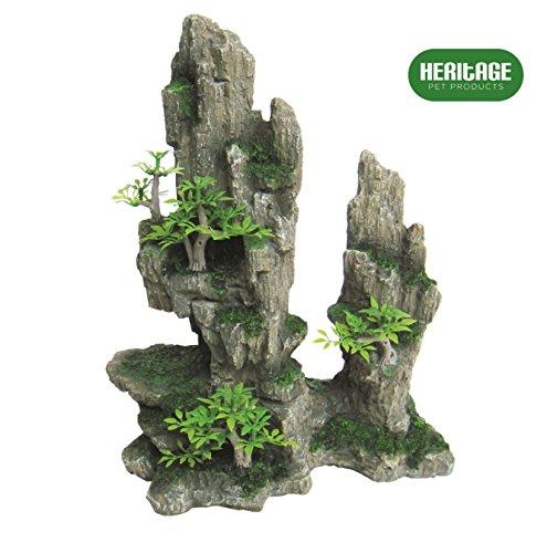 Heritage HB011 - Figura decorativa para acuario de acuario, diseño de cueva de camuflaje, 27 cm de diámetro