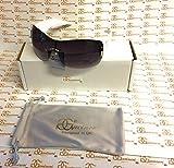 GG Eyewear Women es Designer Sonnenbrillen-Full UV400 Schutz-Women Fashion Oversized Sonnenbrillen-Modell: GG Venture With FREE Pouch and Case white