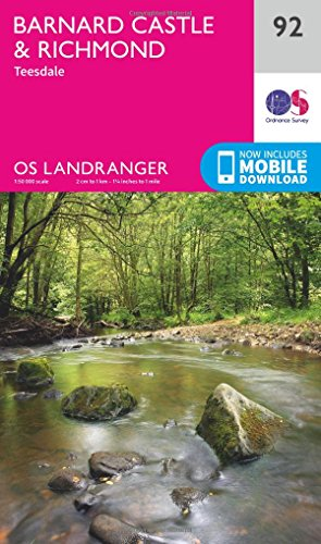 Barnard Castle & Richmond (OS Landranger Map, Band 92) - Barnard Castle