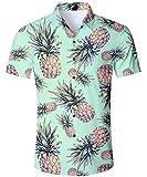 TUONROAD Hawaii Hemd Herren Kurzarm,Herren Sommerhemd Hawaiihemd Kurzarm Besonders FüR Reise Urlaub