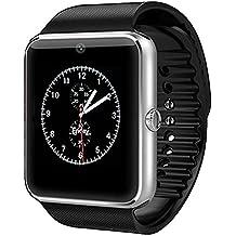 tianjie® GT08Wearable Bluetooth reloj inteligente con cámara y pantalla táctil Smart relojes con ranura de tarjeta SIM para Android Samsung HTC LG Sony Huawei smartphone-silver