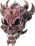 Bristol Novelty BM245Devil Totenkopf Maske, rot, eine Größe