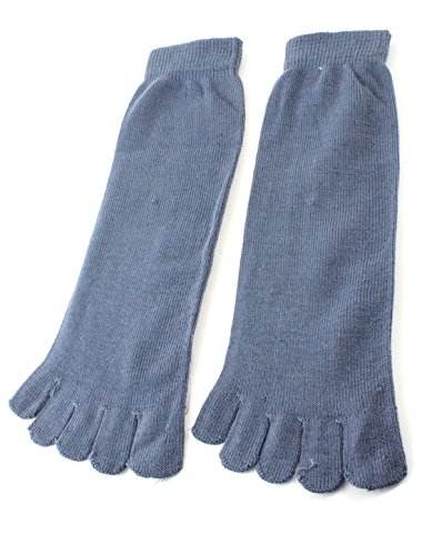 amen Mann Stahl Blau Sport dehnbar Fünf Fingers Fuß Toe Socke ()