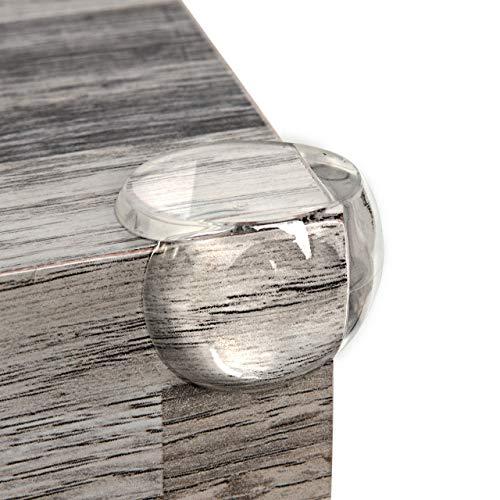 Eckenschutz und Kantenschutz von Homery, Eckschutz transparent extra weich für Tisch und Möbel-Ecken, Stoßschutz mit extra starker Befestigung für Baby und Kinder