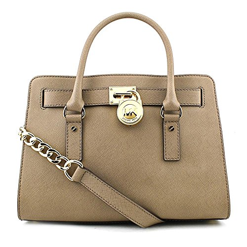 MICHAEL Michael Kors Hamilton East West Satchel in Dark Dune ...