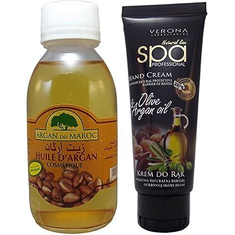 Olio di Argan (Aceite De Argan - Huile Dargan) Premium Bio Organic, 100% Pure Dal Marocco, 100% Natural, 125 ml / 4,23 once ogni grande bottiglia, Spedito da Spagna, First Class Oil. Certified Organic