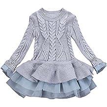 ZARLLE_Bebé Vestido Bebé Niñas,ZARLLE Abrigo de suéter Vestidos de Fiesta de Boda de Princesa