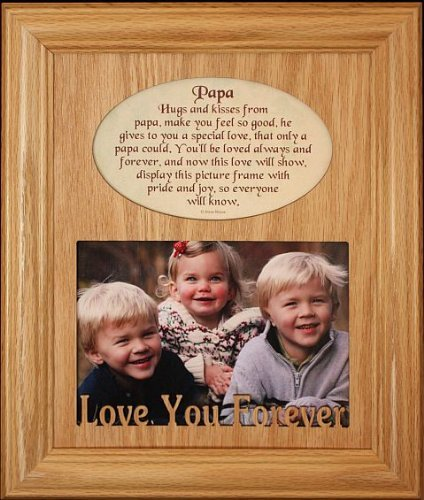 8x10 Papa Laser Photo And Poetry Frame Holds A Landscape 5x7 Picture Wonderful Gift For On Grandparents Day Birthday Christmas From Grand