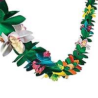 Colgante de Papel Decoración de la Bandera de la Guirnalda de Flores Colgantes Tropicales para Suministros de Bodas para Fiestas en Hawai