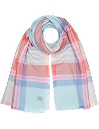 Joules Women's Berkley Scarf, Multicoloured (Pink Check), One Size (Manufacturer Size:ONE)