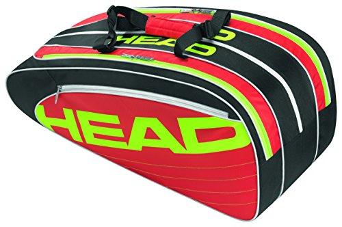 Head - Borsa per racchette, Elite Combi, colore: Nero/Rosso, 75 x 32,5 x 30,5 cm, 55 litri, 283 414-BKRD