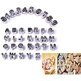 Gearmax® Conjunto de 37 Moldes Cortadores Cifra Letra Para las Galletas de Azúcar Torta de Masa de Deco