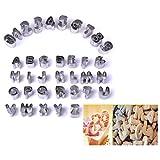 Gearmax® 37pcs Formine A Lettere Dell'alfabeto E Numeri Per Torte Sugarcraft E Marzapane
