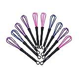 Agitador Plastico - TOOGOO(R)10pcs Plastico Salon Peluquero Pelo de la peluqueria Color Colorante Crema Mezclador Herramientas Batidor