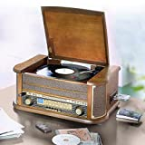 Soundmaster NR 513, Nostalgie Stereo Musikcenter mit CD, Plattenspieler, Kassettenteil und UKW/MW-Radio
