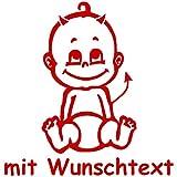 Babyaufkleber mit Name/Wunschtext - Motiv 79 (16 cm) - 20 Farben und 11 Schriftarten wählbar