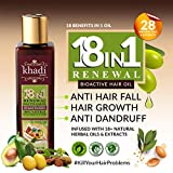 Khadi Global 18 In1 Renewal BioActive Hair Oil with 18+ Natural Herbal Oils