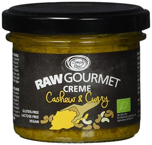Simplyraw Bio Raw Gourmet Creme Cashew & Curry, 6er Pack (6 x 100 g)