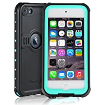 Sunwukin Funda Impermeable para el Apple iPod Touch 5 6 Prueba de Choques, Prueba de Polvo, de Nieve y de Golpe, Protectora muy Resistente de Cubierta ( Blue Grass )