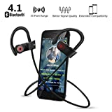 Bluetooth Headphones,Aokey Best Wireless 4.1 Bluetooth Earbud IPX7 Waterproof Running Earphones with Mic Hands-Free Calls for iPhone,Samsung,Other Smartphones Waterpoof Premium Sound for Running Workout,Sports Gym Beleen,Walking,Hiking and Indoor/Outdoor sports