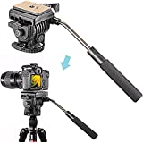 "Neewer® Flexible Aluminum Camera Head for Canon,Nikon,and Other DSLR Cameras with 1/4"" Thread up to 11lbs/5kg, Tripods & Monopods with 3/8"" Thread"