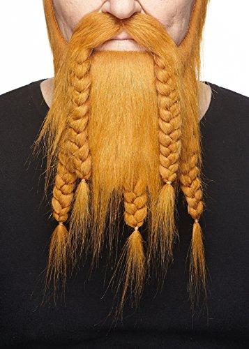 Mustaches Selbstklebende Neuheit Viking Dwarf Fälscher Bart Falsch Gesichtsbehaarung Kostümzubehör für Erwachsene Ingwer - Ingwer Mann Kostüm
