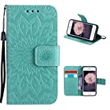 iPhone SE / 5 / 5S Schutzhülle Leder, iPhone SE Wallet Case, iPhone 5S Wallet Case, iPhone 5 Wallet Case, Moon mood® Brieftasche Ledertasche für iPhone 5/5S/SE PU Leder Folio Handyhülle Handytasche