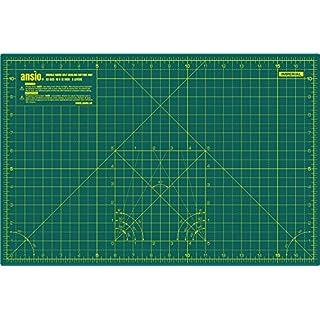 ANSIO A3 Doppelseitige Selbstheilung 5 Schichten Schneidematte Imperial / Metric 17 Zoll x 11 Zoll / 44 cm x 29 cm - Grün/Grün
