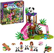 LEGO Friends Panda Jungle Tree House 41422 building set with 2 mini-dolls and 3 baby panda figures, Toy for Ki
