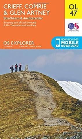 OS Explorer OL47 Crieff, Comrie & Glen Artney (OS Explorer Map)