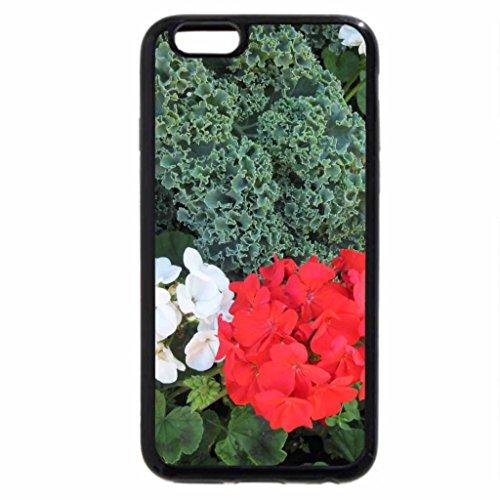 iPhone 3S/iPhone 6Coque (Noir) une journée au jardin 08avec géranium