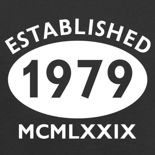 Gegründet 1979 Römische Ziffern - 38 Geburtstag - Herren T-Shirt - 13 Farben Schwarz