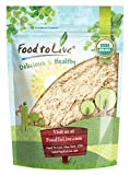 Food to Live Polvo de raíz de jengibre Bio certificado (Eco, Ecológico, sin OMG, raíz de jengibre molida cruda, harina) - 4 onzas