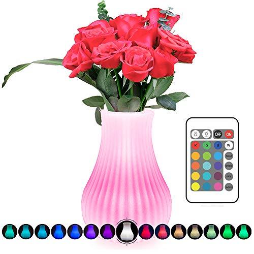 Wasserdichte Vase Lampe, StillCool USB Wiederaufladbare 16 Farbe LED Nachtlicht Schlummerleuchten Stimmungslicht Leselampe für Schlafzimmer, Kinderzimmer, Wohnzimmer Dekoration, Weihnachtsgeschenk