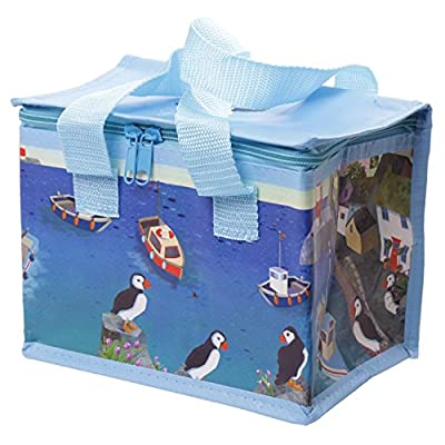 Gorgeous Puffins By The Seaside Pack Away Woven Lunch Box