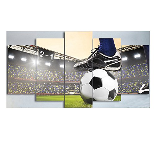 Fußball Drucke Auf Leinwand Moderne Ölgemälde Kunst Malerei Bilder Zeichnung Gerahmte Leinwand Drucke Kunstwerk Wandkunst Für Wohnzimmer Dekorationen Nach Hause (Fußball-feld Drucken)