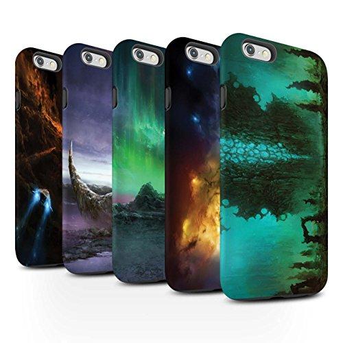 Offiziell Chris Cold Hülle / Matte Harten Stoßfest Case für Apple iPhone 6S+/Plus / Rest Muster / Fremden Welt Kosmos Kollektion Pack 12pcs