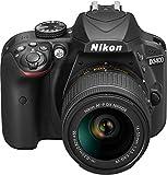 Nikon D3400 + AF-P 18-55VR Digital SLR Camera & Lens Kit - Black