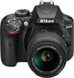"Nikon D3400 - Cámara réflex digital de 24.2 MP (pantalla LCD 3"", inalámbrica con Snapbridge, vídeo Full HD), negro -  kit con objectivo estabilizado 18-55 AFP DX VR,versión europea"