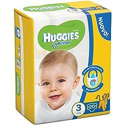 Huggies - Unistar - Pañales - Talla 3 (4 - 9 kg) - 20 pañales