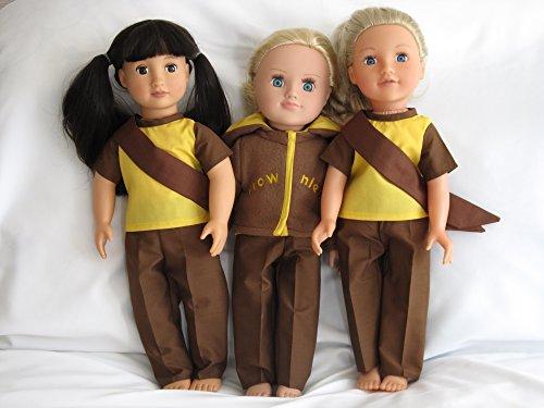 Brownie Outfit für 45,7cm große Puppen wie DesignaFriend, AMG, Carly und Cayla