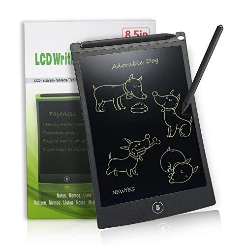 LCD Writing Tablet 8,5-Zoll Digital Schreibtafel Papierlos Grafiktablet von Newyes für Schreiben und Malen (schwarz)