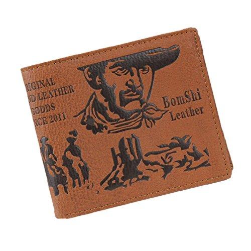 Azue PU Leder einzigartige Banknote Design Geldtasche Geldbeutel Portemonnaie Geldböse Brieftasche Cowboy (Shop Einzigartige Handtaschen)