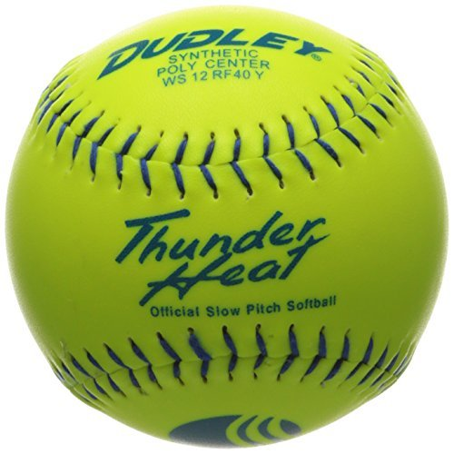 Heat Slow Pitch Classic M Stamp Softball - Synthetic Cover - by Dudley ()