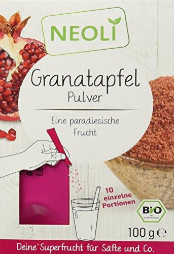 Neoli  Granatapfel Pulver Bio Superfood für Smoothies, Tee, Joghurt, Säfte und Müsli, 1 Pack (100 g)