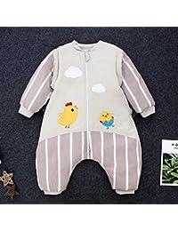 CLLCR Saco de Dormir para Las Piernas del Bebé/Otoño E Invierno, Algodón Grueso Anti-Patada/Pijamas para Niños…